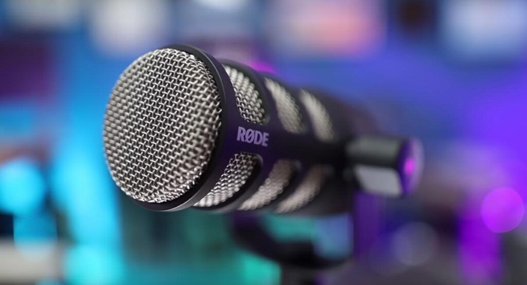 Rodcaster Pro Microphone at G4 Claims Podcast Studio